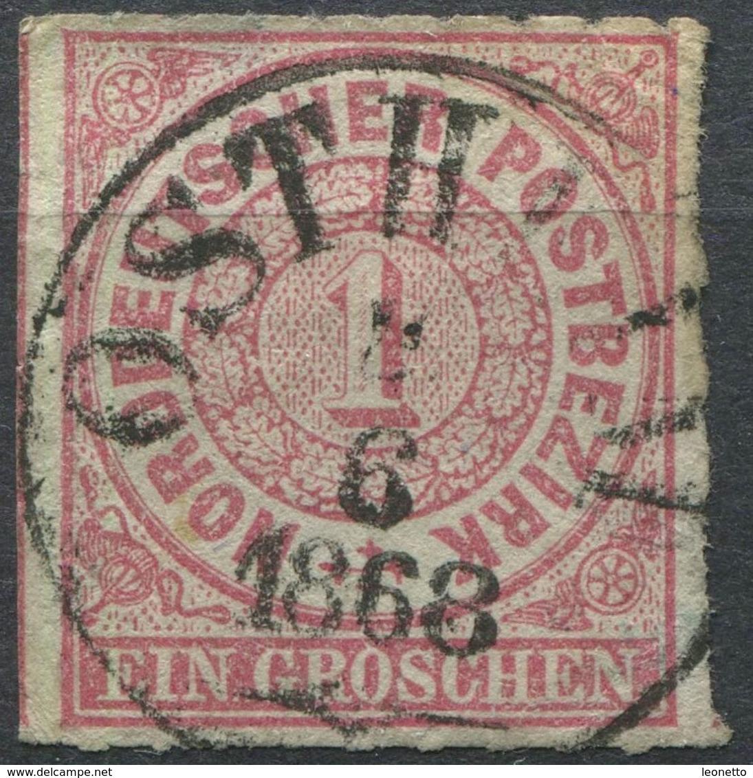 NDP 1 Gr Freimarke Michel 4 Gestempelt, K1 OSTH..., Bedarfserhaltung (1-428) - Norddeutscher Postbezirk