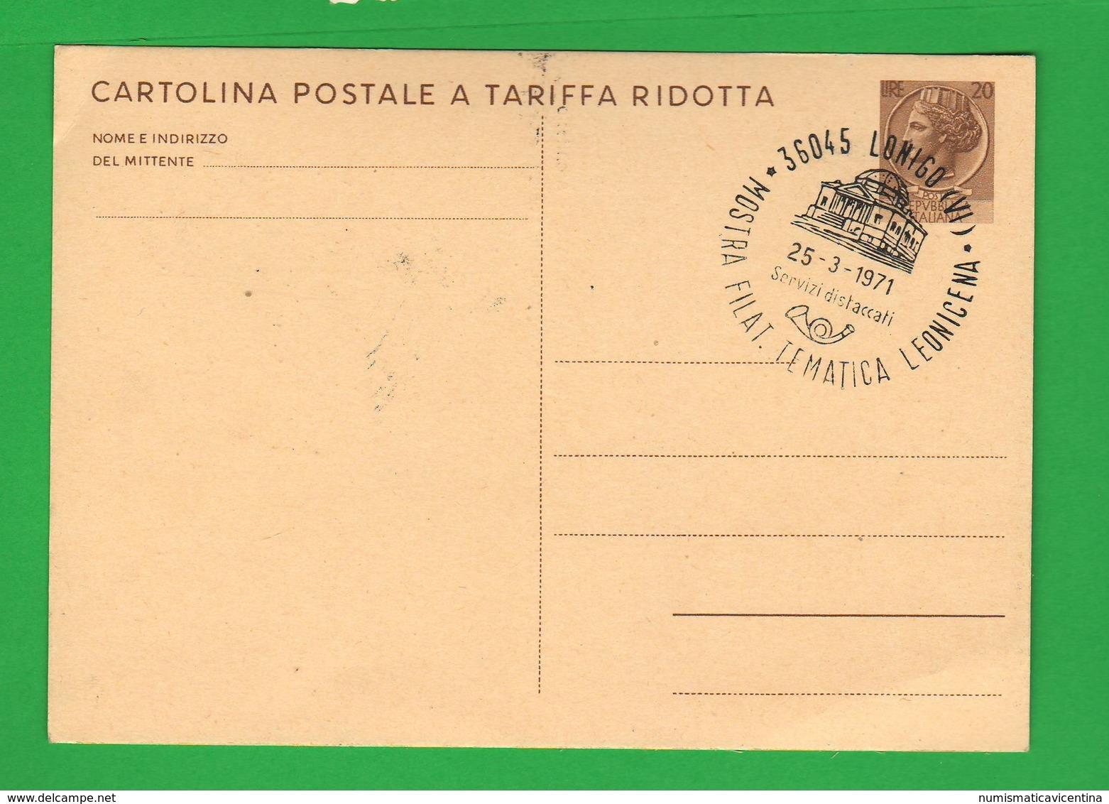 Lonigo Mostra Filatelica 1971 V. Scamozzi - Maximumkarten (MC)