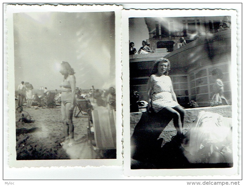 Foto/Photo. Femme/Pin Up En Maillot. Lot De 2 Photos. - Pin-Ups
