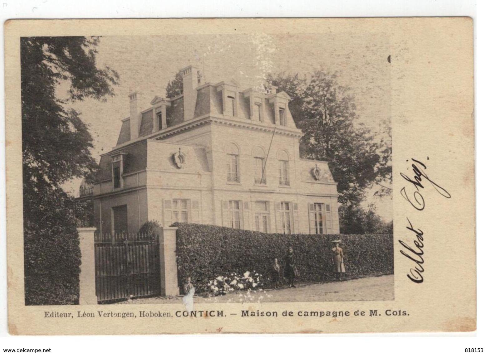 CONTICH.  -  Maison De Campagne De M.Cols 1906 - Kontich