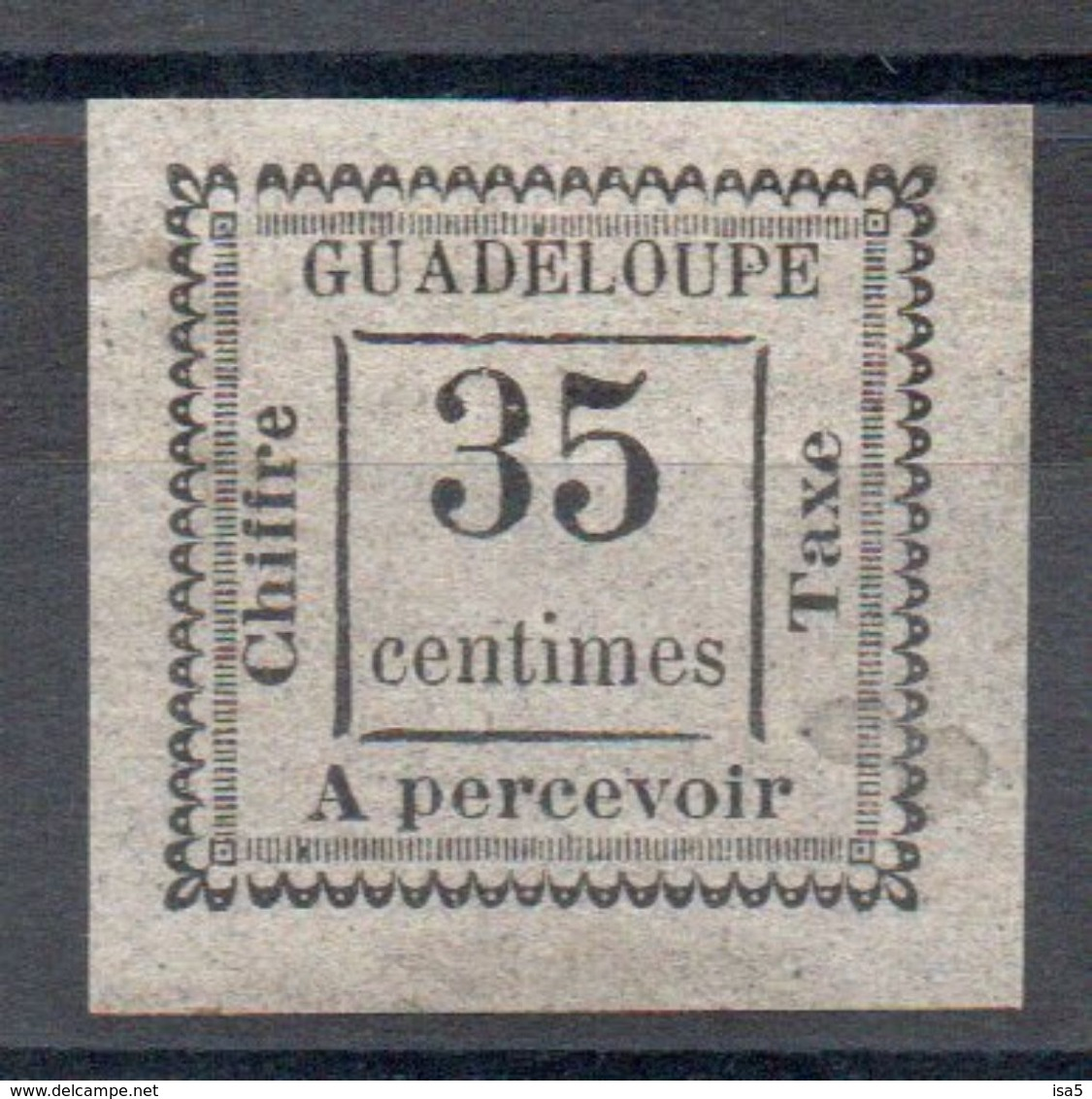 GUADELOUPE - YT N° 11 Signé Brun - Neuf * - MH  - Cote 80,00 € - Guadeloupe (1884-1947)