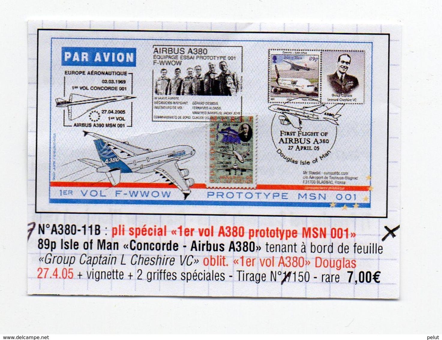 1er Vol Ile De Man 2005 Airbus A380 - Isola Di Man
