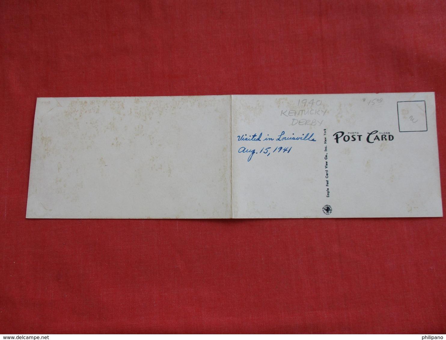 Bi Fold-- 1940 Kentucky Derby Churchill Downs Louisville KY. -ref 2843 - Cartes Postales