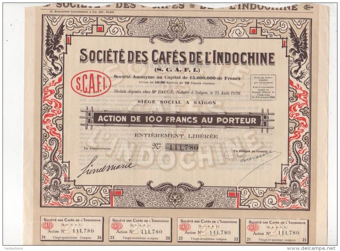 VIET-NAM-CAFES DE L'INDOCHINE. S.C.A.F.I.  SAÏGON DECO - Shareholdings