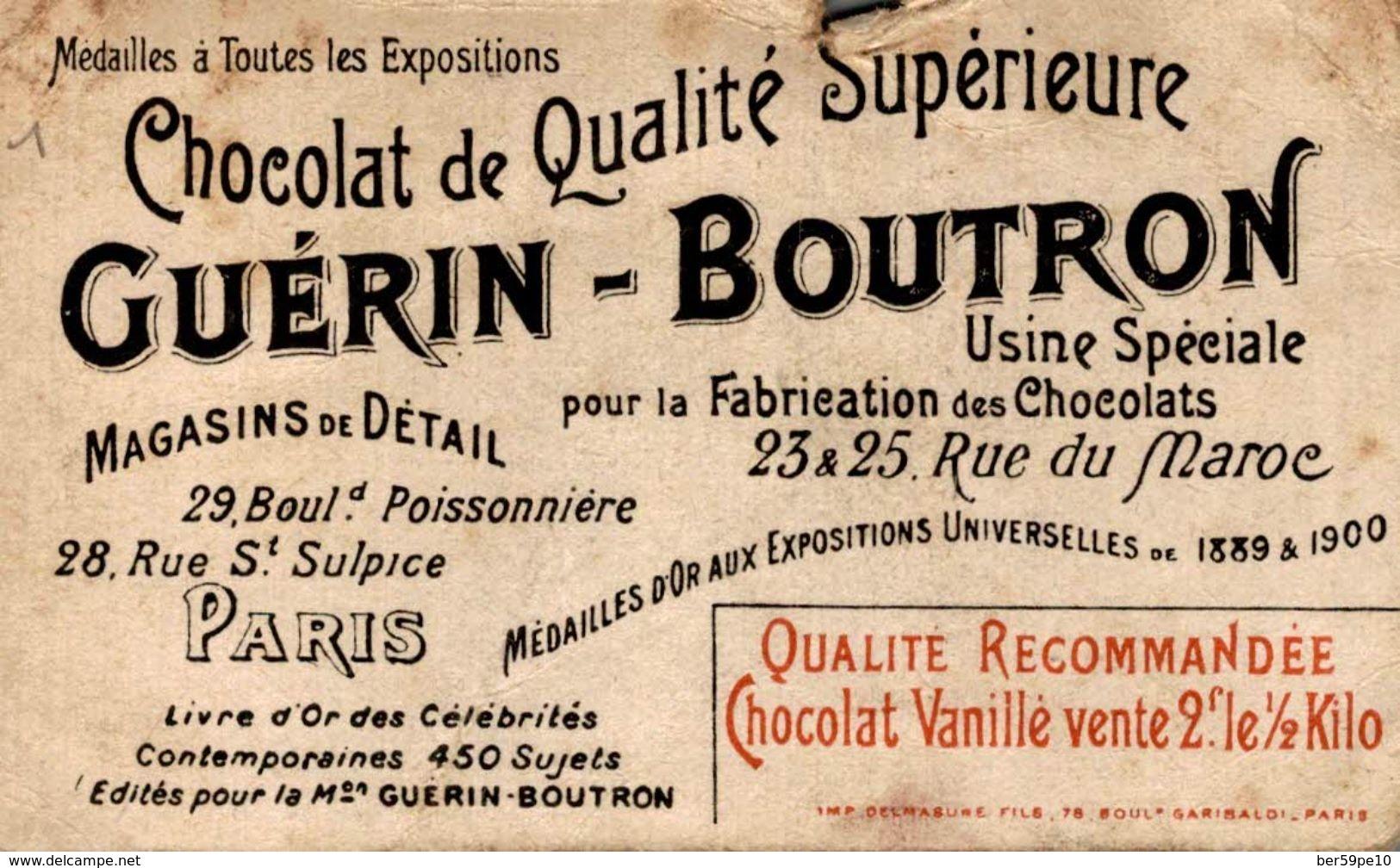 CHROMO CHOCOLAT GUERIN-BOUTRON  1 THIERS PRESIDENT - Guérin-Boutron