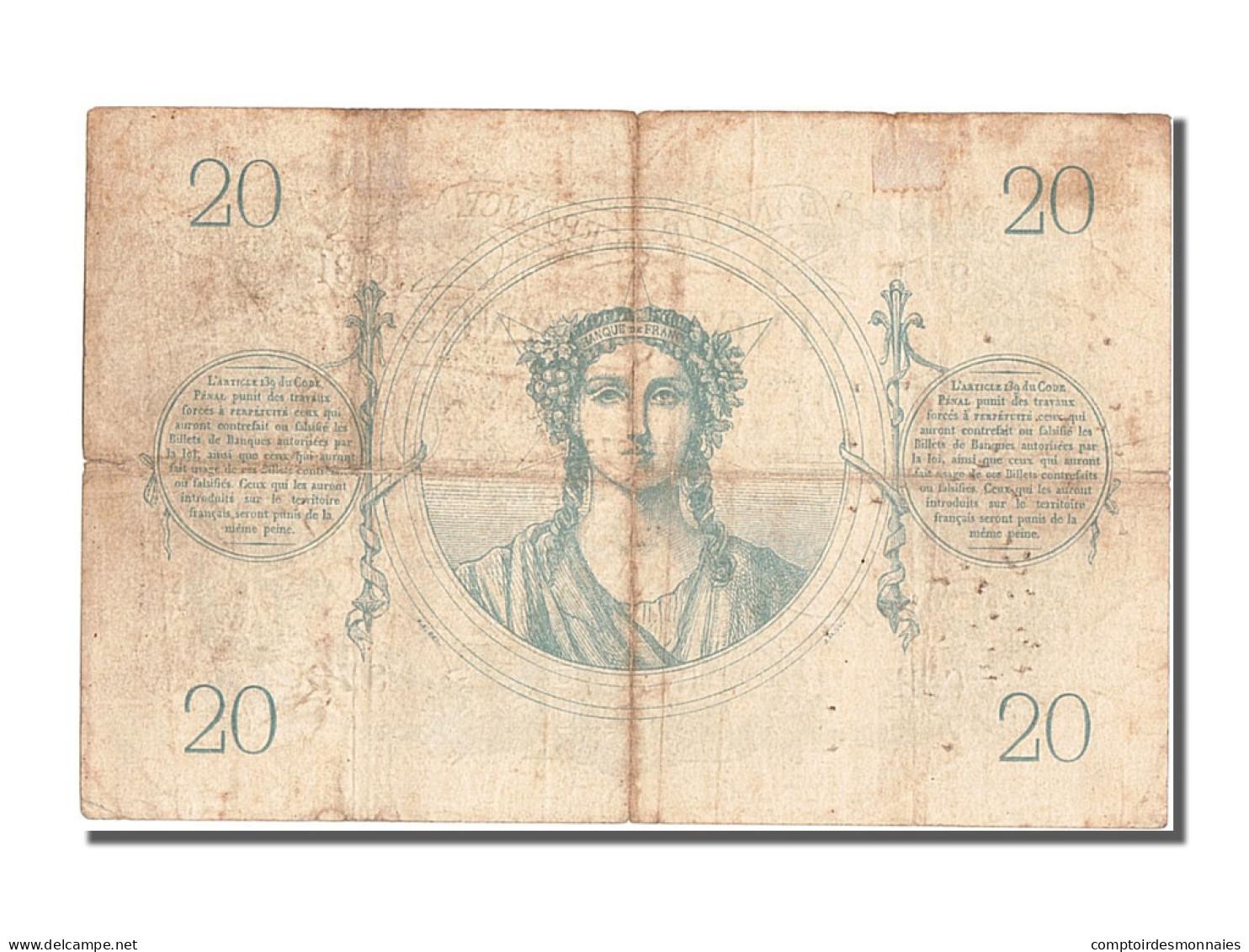 France, 20 Francs, ...-1889 Circulated During XIXth, 1871, 1871-03-02, TB - ...-1889 Tijdens De XIXde In Omloop