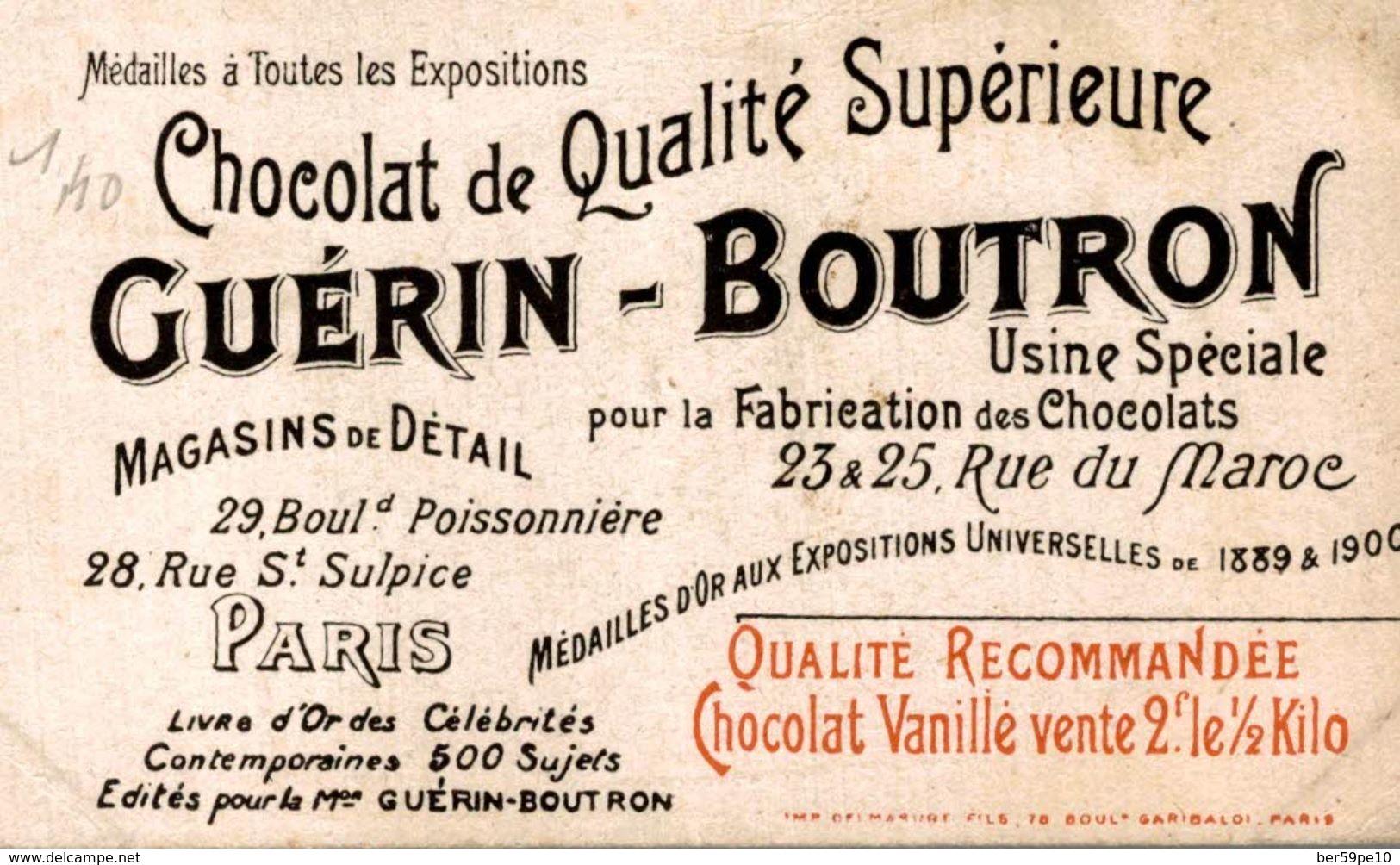 CHROMO CHOCOLAT GUERIN-BOUTRON  27 GEOGES 1er ROI DE GRECE - Guerin Boutron