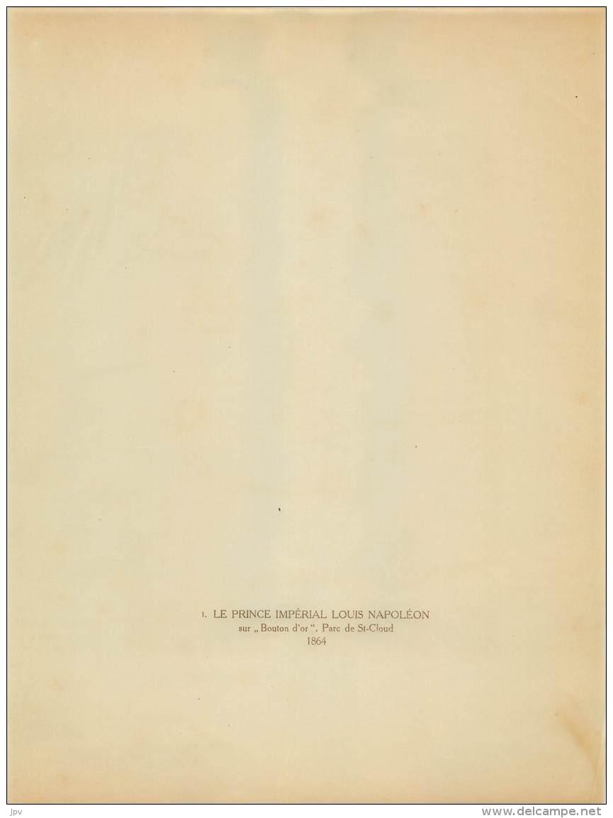CHEVAL : PRINCE IMPERIAL LOUIS NAPOLEON Sur Bouton D'or, Parc St Cloud 1864 - Photographs