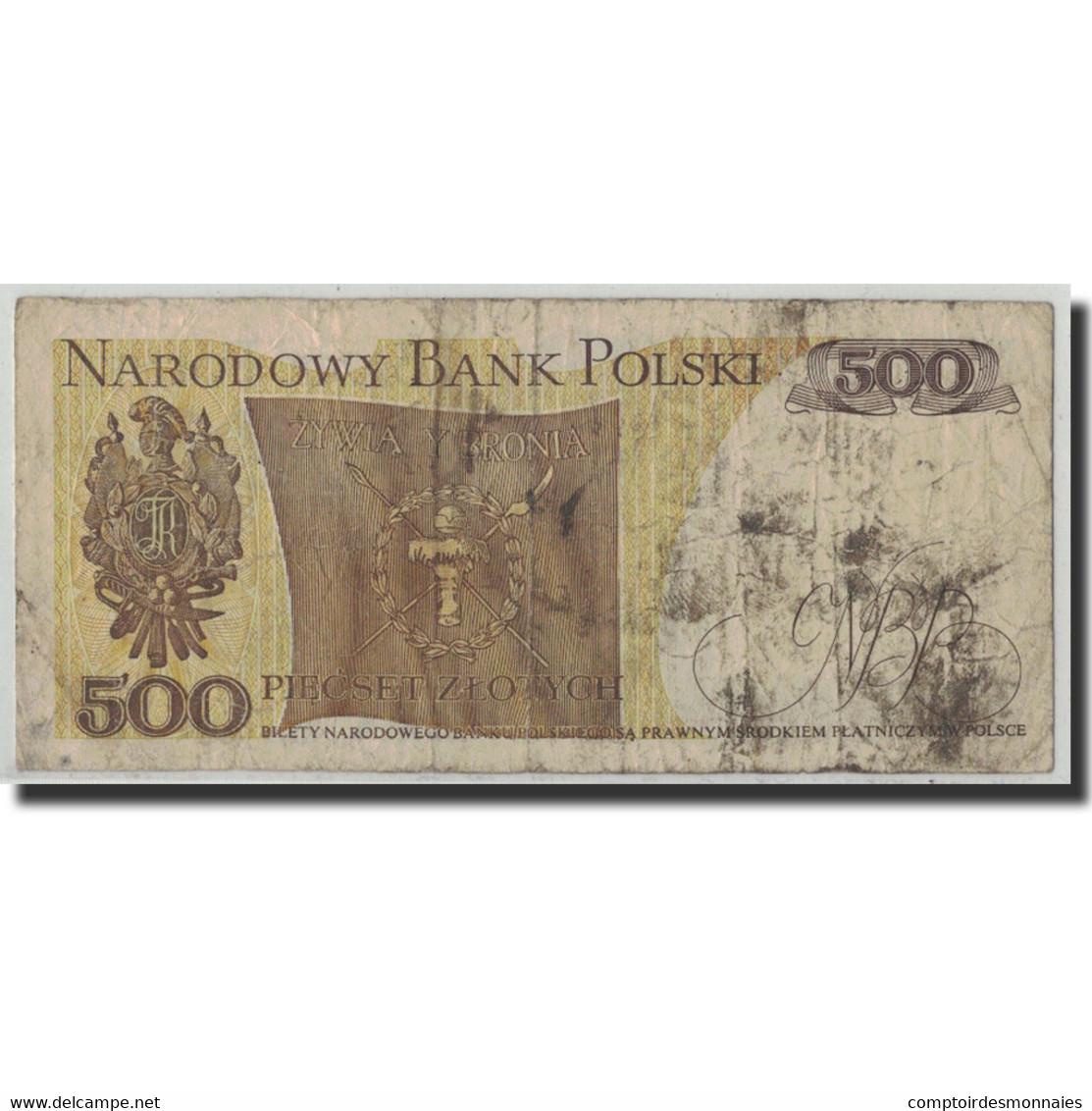 Billet, Pologne, 500 Zlotych, 1982, 1982-06-01, KM:145d, B+ - Polen