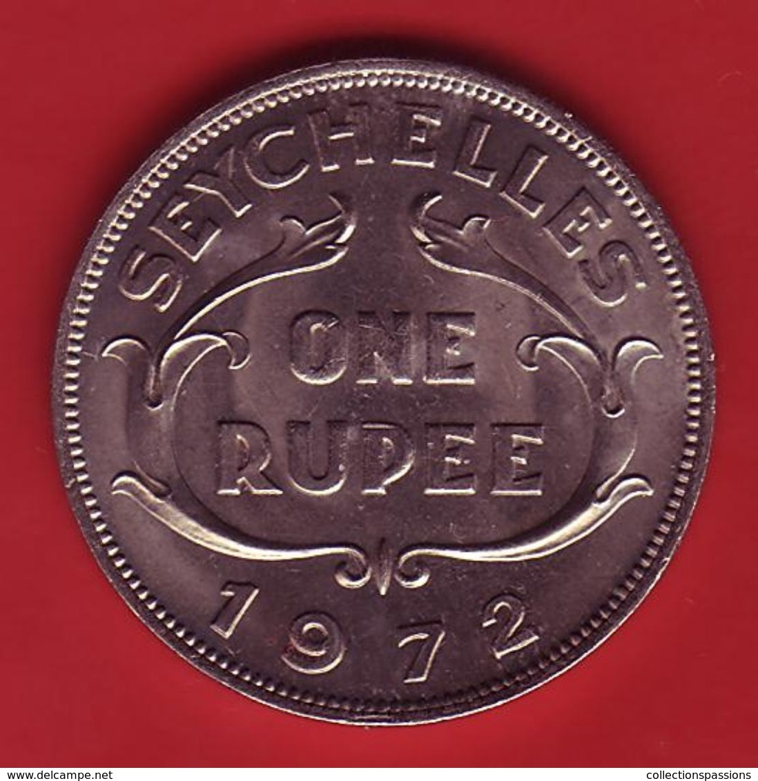 - SEYCHELLES - One Rupee - 1972 - - Seychelles