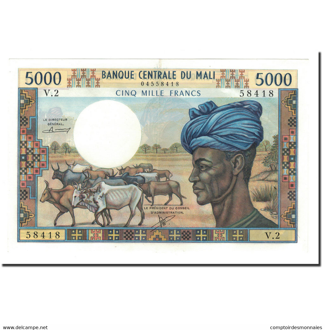 Billet, Mali, 5000 Francs, Undated (1972-84), KM:14b, SUP+ - Mali