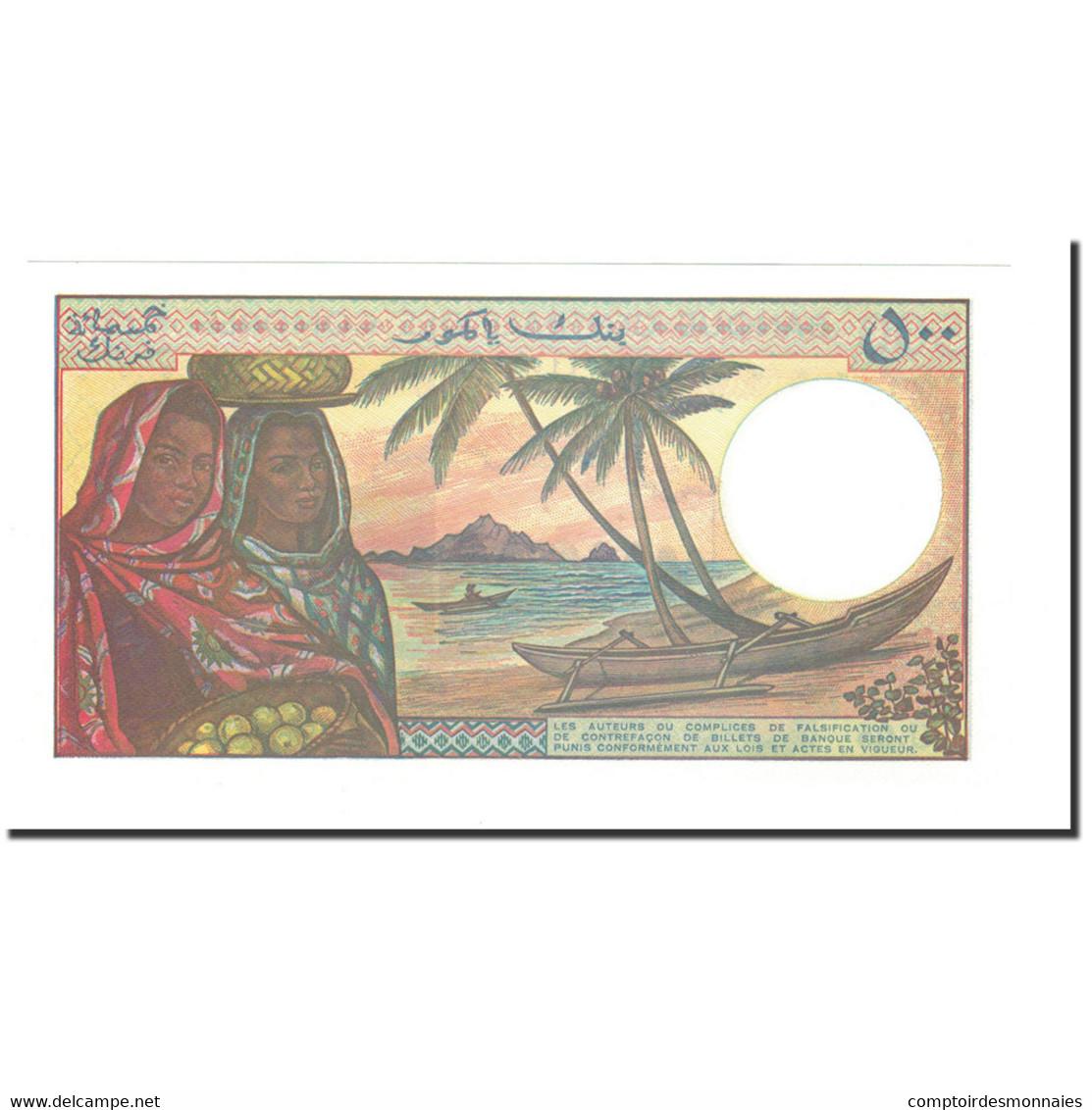 Billet, Comoros, 500 Francs, 1994, KM:10b, NEUF - Comores