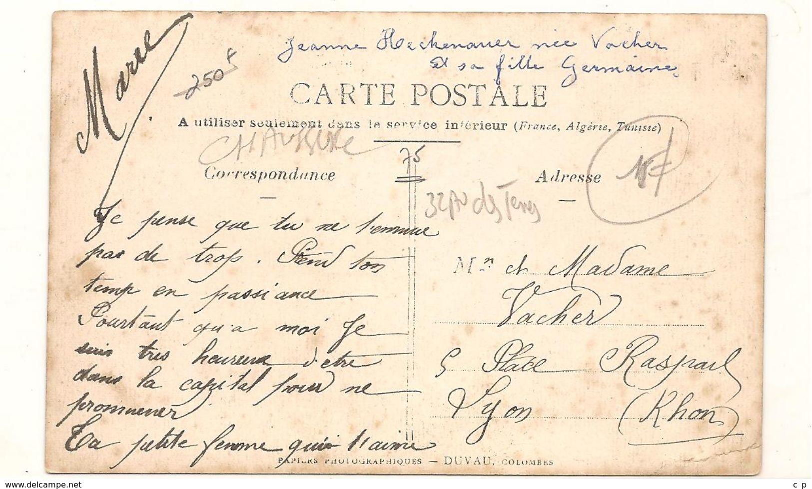 Paris -  Metiers  -  Carte Photo -  Magasin De Chaussures - MR Et MME HECKNAUER ,  32 Avenue Des Ternes  -  RARE -  CPA° - Petits Métiers à Paris