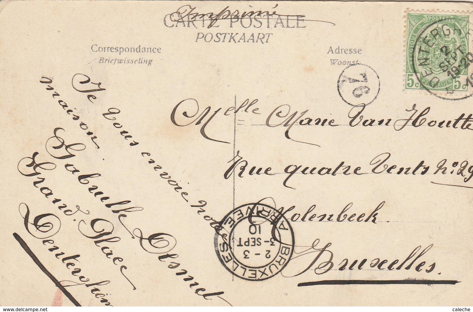 Denterghem - Propriété Eugène Minne 1910- Coins Très Légèrement Usés . - Dentergem