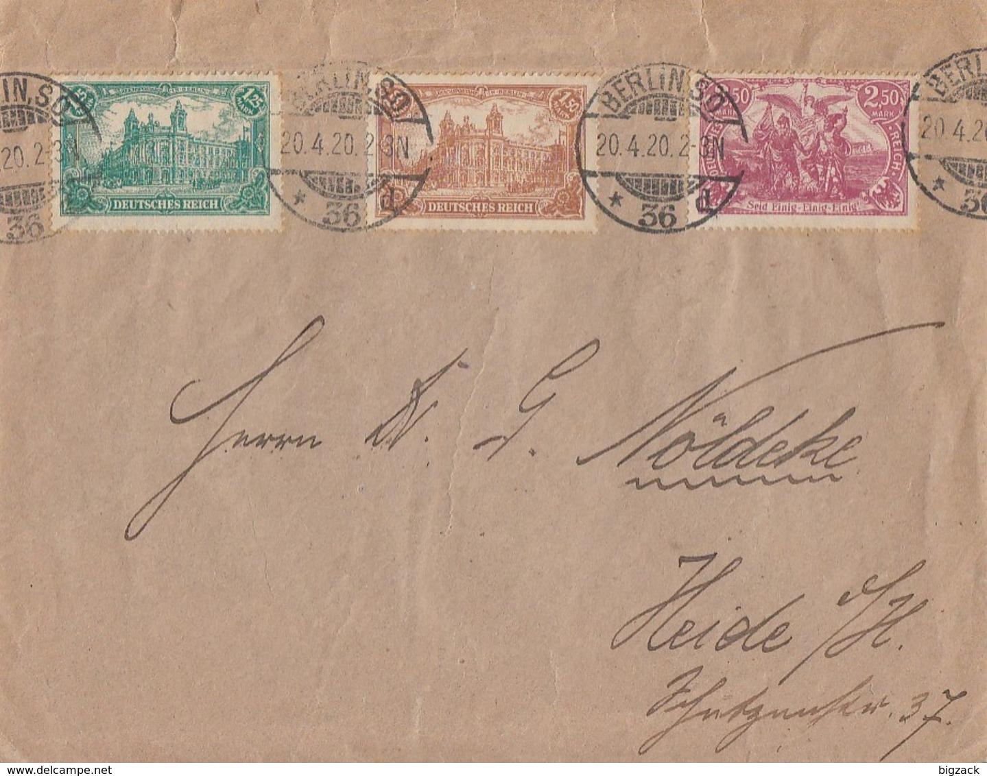 DR Brief Mif Minr.113,114,115 Berlin 20.4.20 - Deutschland