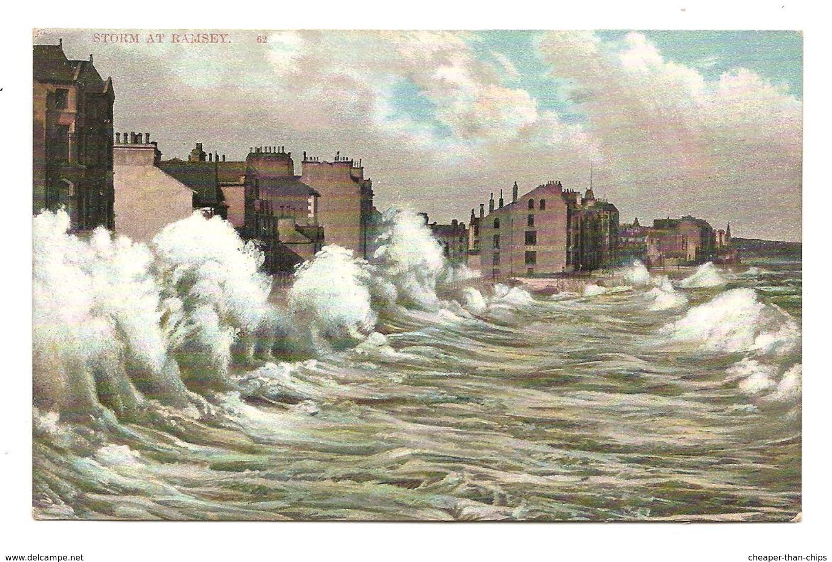 Storm At Ramsey - Grosvenor Series Post CarT 62 - Isle Of Man