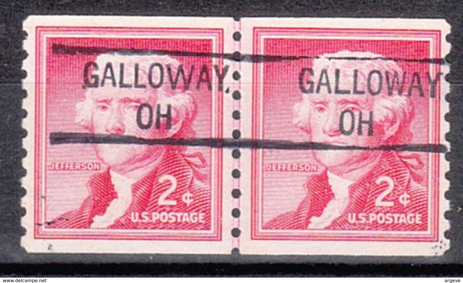 USA Precancel Vorausentwertung Preo, Locals Ohio, Galloway 841, Line Pair - Vereinigte Staaten