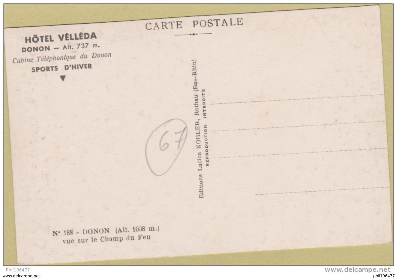 67 Donon - Cpsm / Vue Sur Le Champ Du Feu. Non Circulé. - France