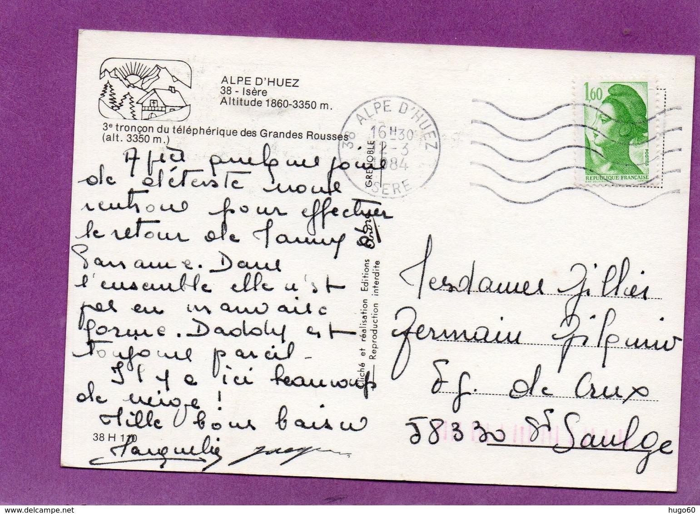 ALPE D'HUEZ - 3e Tronçon Du Téléphérique Des Grandes Rousses - France