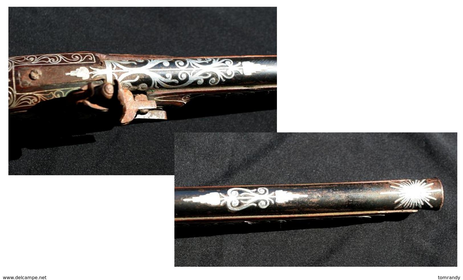 Arabisch-Osmanischer, Silberbeschlagener Steinschloß-Vorderlader - Silberzeug