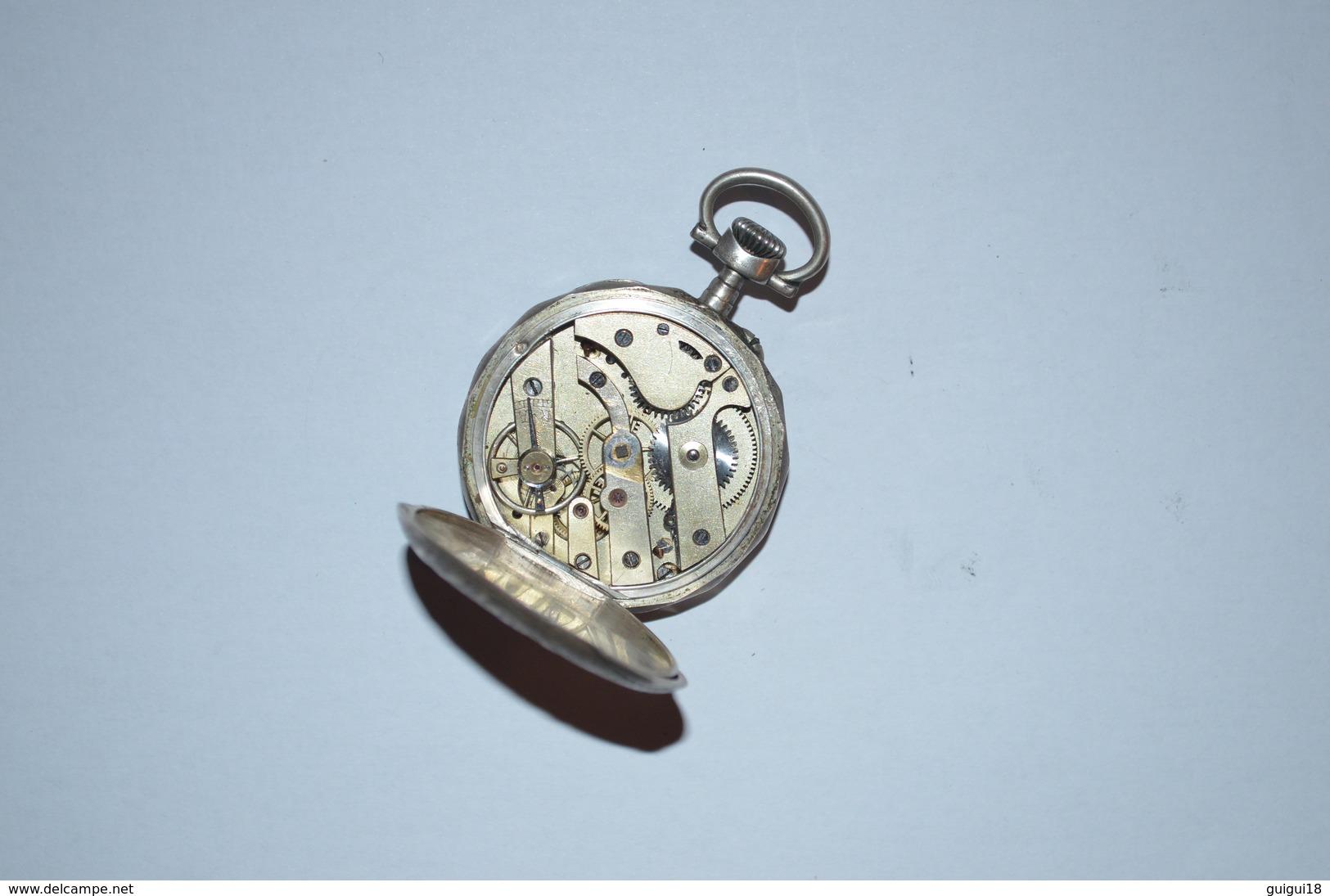 Montre Gousset Argent 40mm - Horloge: Zakhorloge
