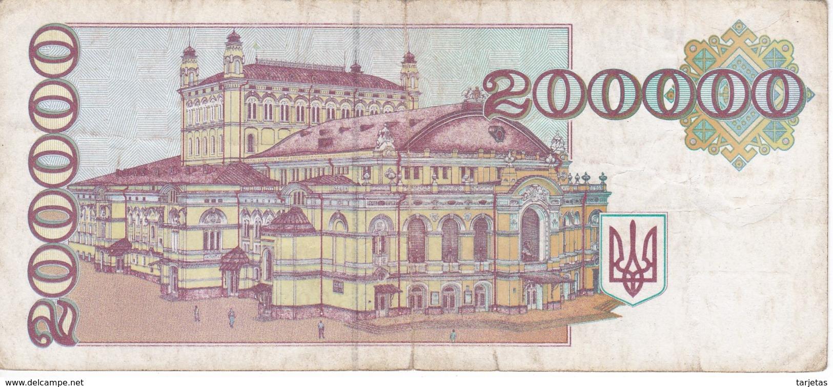 BILLETE DE UKRANIA DE 200000 KYNOH DEL AÑO 1994 (BANKNOTE-BANK NOTE) UCRANIA - Ucrania