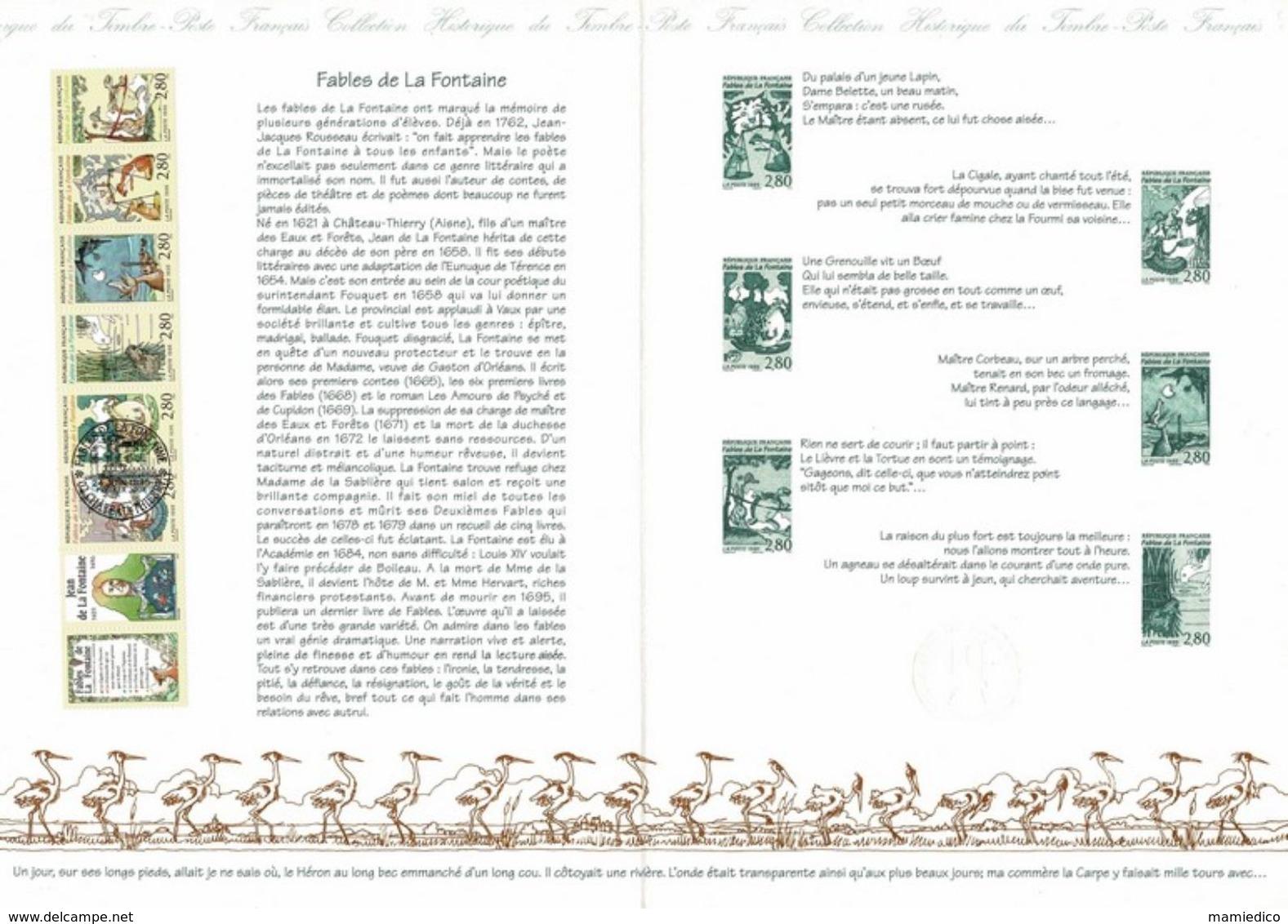 4 Documents FDC Littérature Jeunesse Jean De LA FONTAINE+PERRAULT Le Chat Botté+ La Comtesse De SEGUR+La Bande Dessinée. - Collections