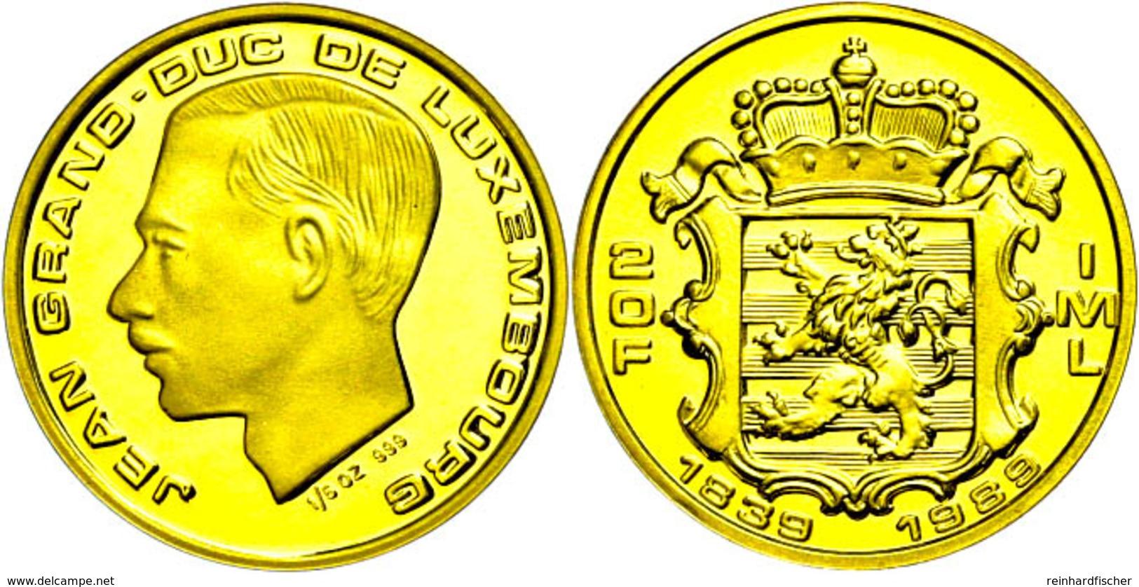 580 20 Francs, Gold, 1989, Jean, 150. Jahre Unabhängigkeit, Fb. 12, PP  PP - Luxembourg