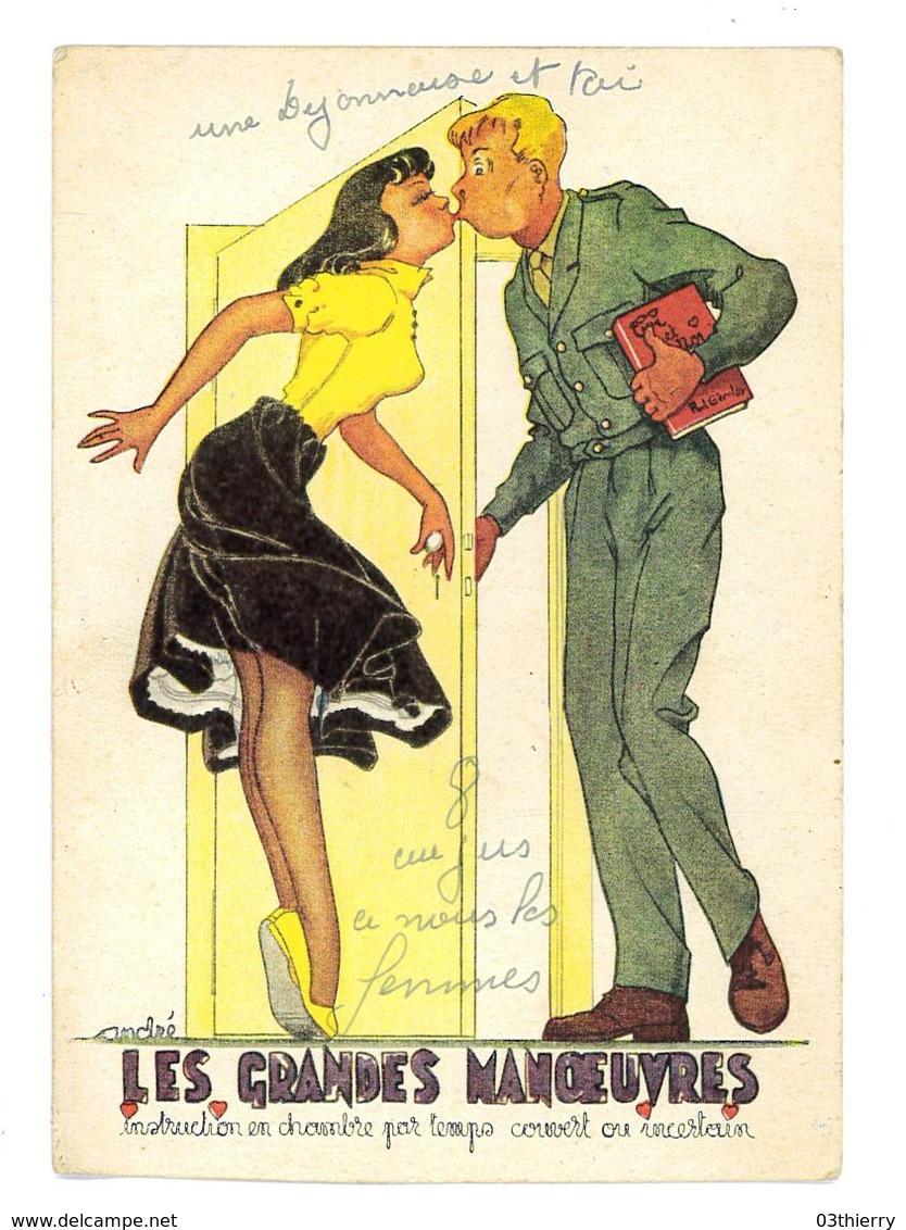 CPSM HUMOUR DESSIN DE ANDRE LES GRANDES MANOEUVRES - Künstlerkarten