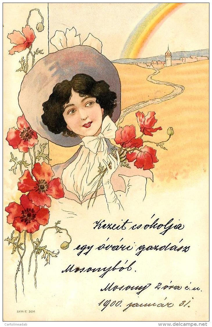 [DC11603] CPA - ART NOUVEAU - ILLUSTRATORE RAPHAEL KIRCHNER NON FIRMATA SERIE 302 - Viaggiata 1900 - Old Postcard - Kirchner, Raphael