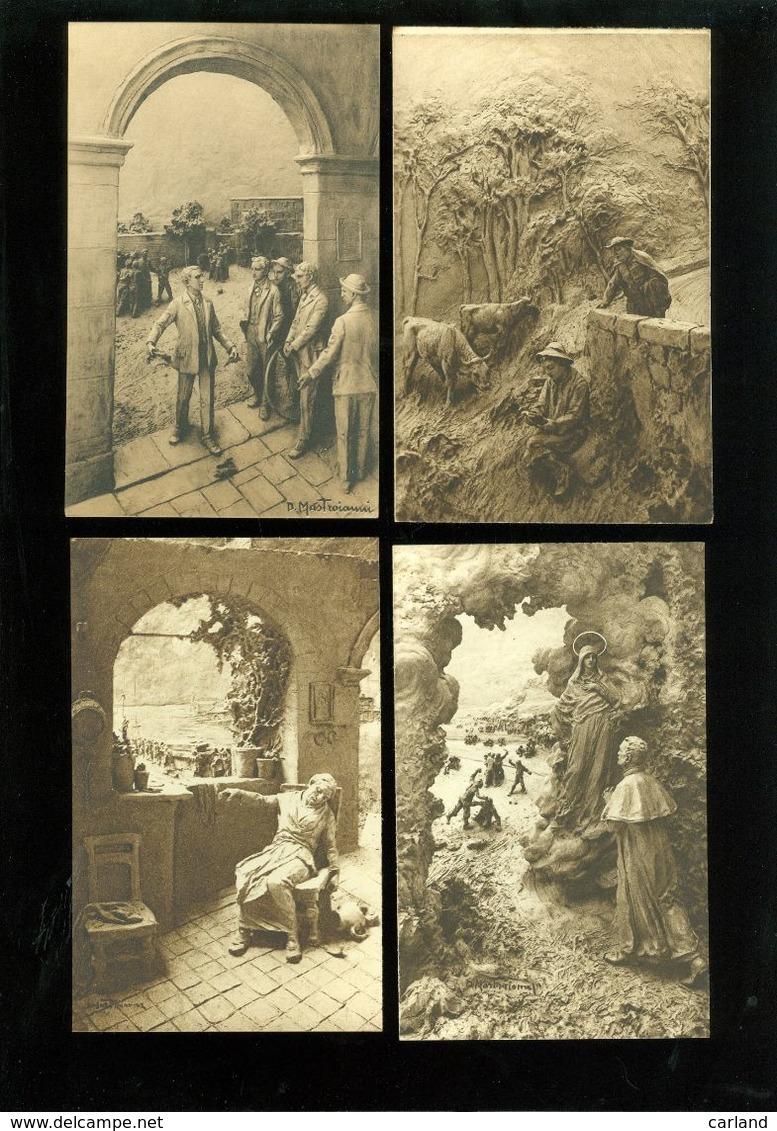 Beau Lot De 52 Cartes Postales De La Vie Du Ven Jean Bosco Sculptures ( Illustrateur ) De D. Mastroianni  52 Postkaarten - Cartes Postales