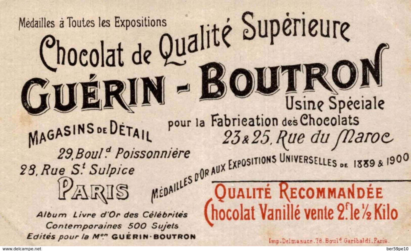 CHROMO CHOCOLAT GUERIN-BOUTRON  210 JULES CAMBON AMBASSADEUR A MADRID - Guérin-Boutron