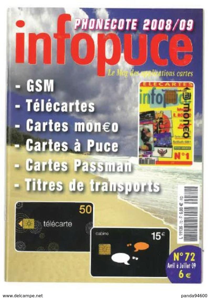 Revue Infopuce Avril 2009 N° 72 - Tarjetas Telefónicas