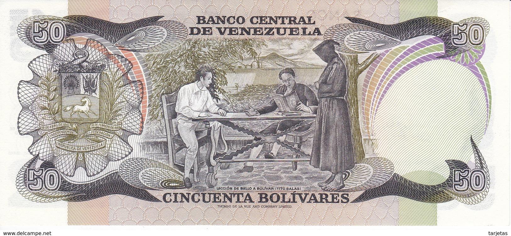 BILLETE DE VENEZUELA DE 50 BOLIVARES DEL AÑO 1981 SERIE A  (BANKNOTE) SIN CIRCULAR-UNCIRCULATED - Venezuela