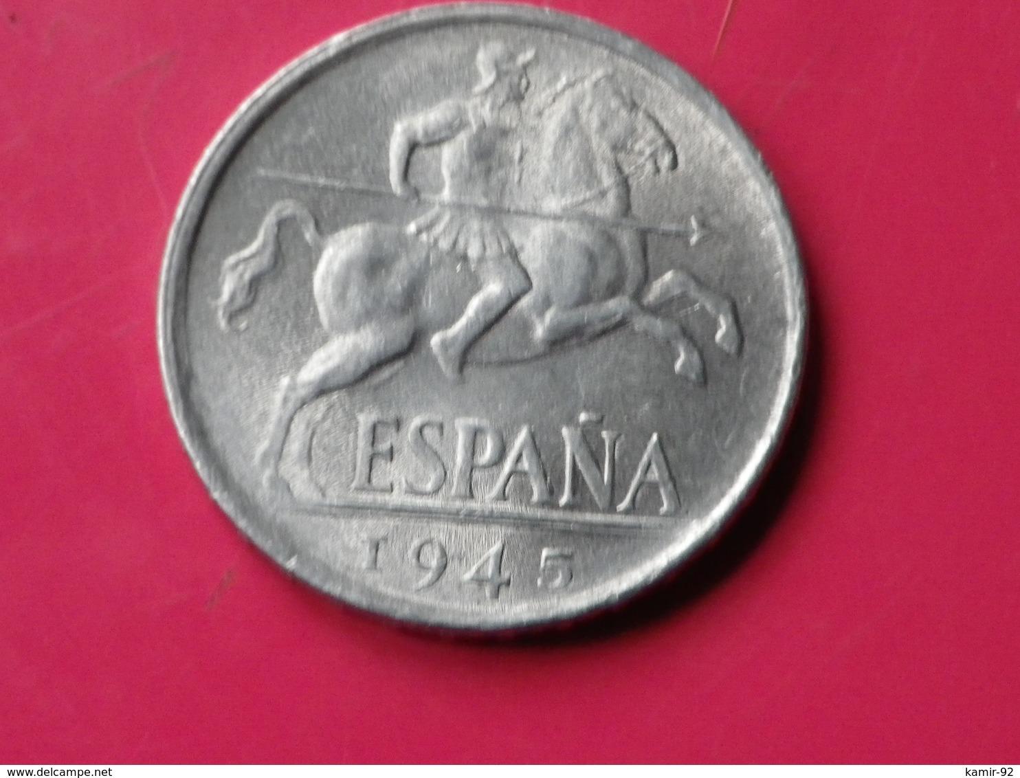 Espagne 10 Centimos 1945 Gouv.nationaliste Km#766     Lot 2      Superbe  Aluminium - 10 Centimos