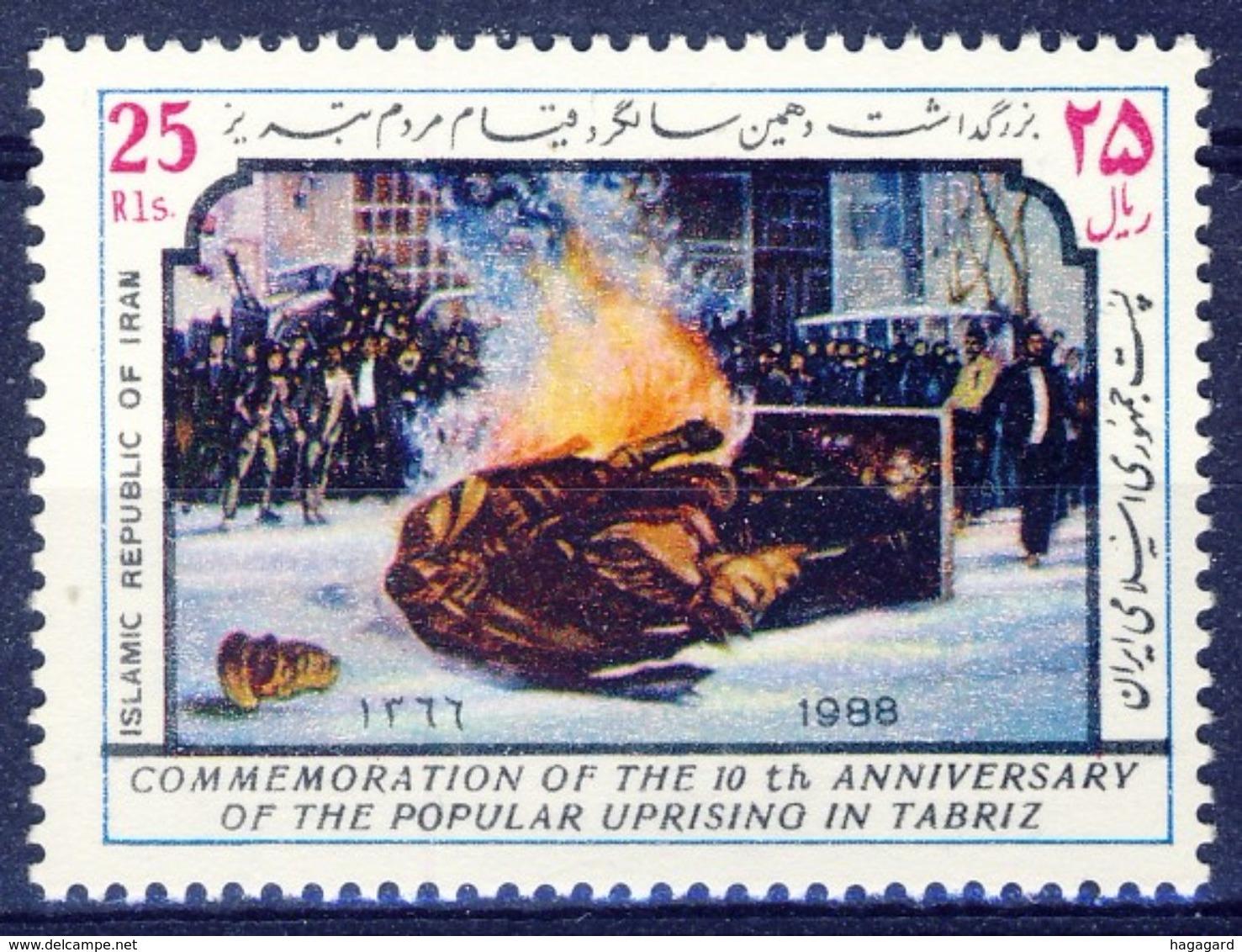 +D2684. Iran 1988. Uprising Täbriz. Michel 2263. MNH(**) - Iran