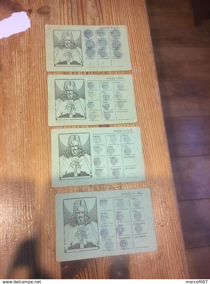 ARBREFONTAINE LIGUE DU SACRE CŒUR 4 Cartes - Old Paper