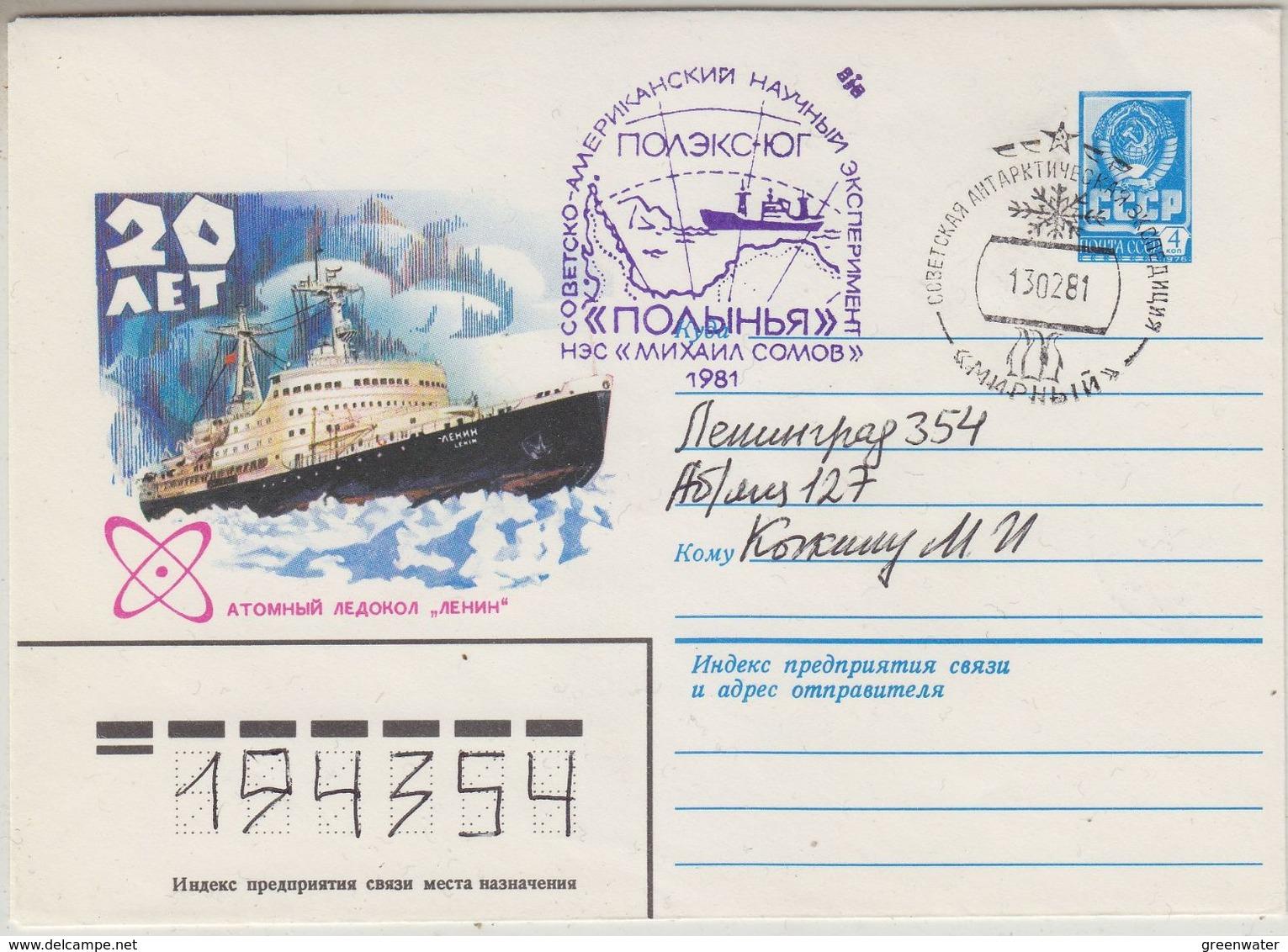 Russia 1981 Antarctica / Atomic Icebreaker Cover Ca 13.02.81 (37672) - Poolshepen & Ijsbrekers