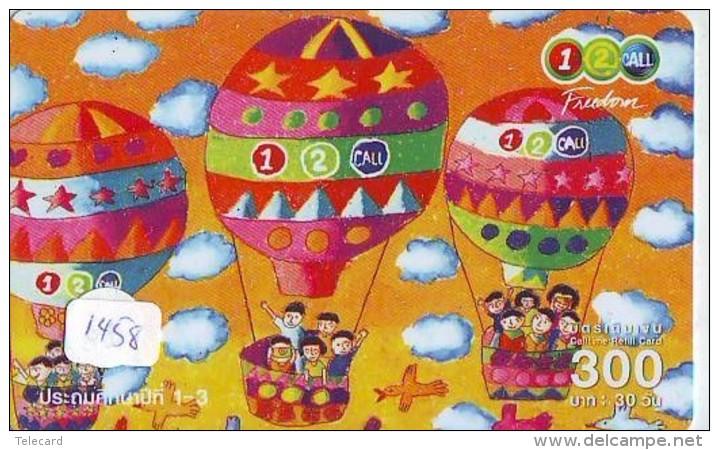 Telecarte  JAPON * SPORT * MONTGOLFIERE (1458) Hot Air Balloon * Ballon * Aerostato  * TELEFONKARTE * PHONECARD JAPAN * - Sport