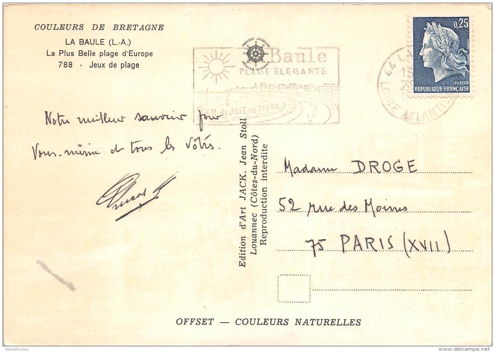 LA BAULE La Plus Belle Plage D Europe Jeux De Plage 18(scan Recto-verso) MA1833 - La Baule-Escoublac
