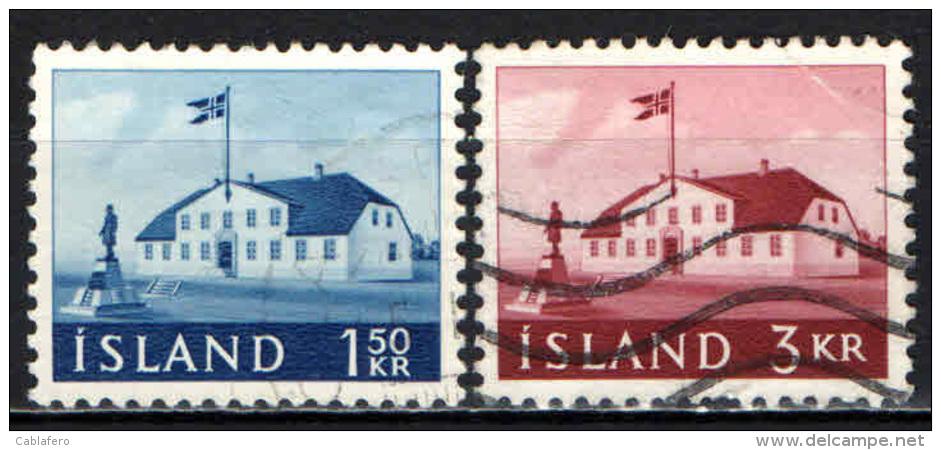 ISLANDA - 1961 - ANTICA SEDE DEL GOVERNO - NUOVI VALORI - USATI - 1944-... Republik