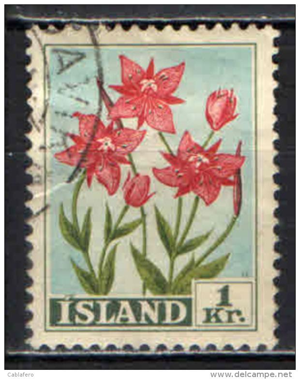 ISLANDA - 1958 - ERBA DI SALICE - USATO - 1944-... Repubblica