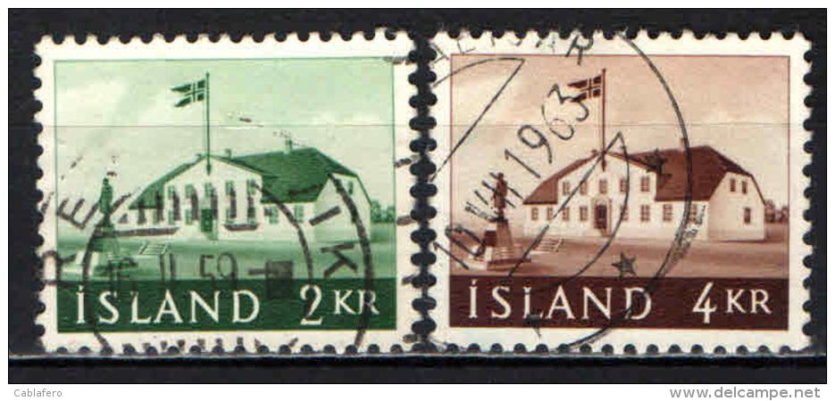 ISLANDA - 1958 - ANTICA SEDE DEL GOVERNO - USATI - Usati