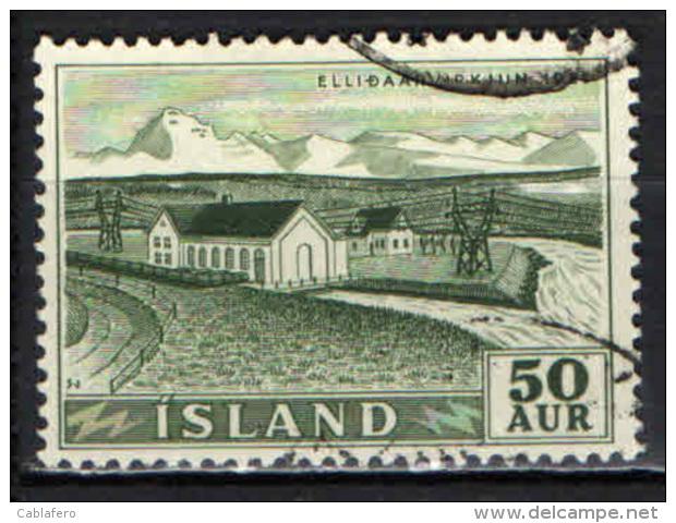 ISLANDA - 1956 - CENTRALE IDROELETTRICA DI ELLIDAAR - USATO - Usati