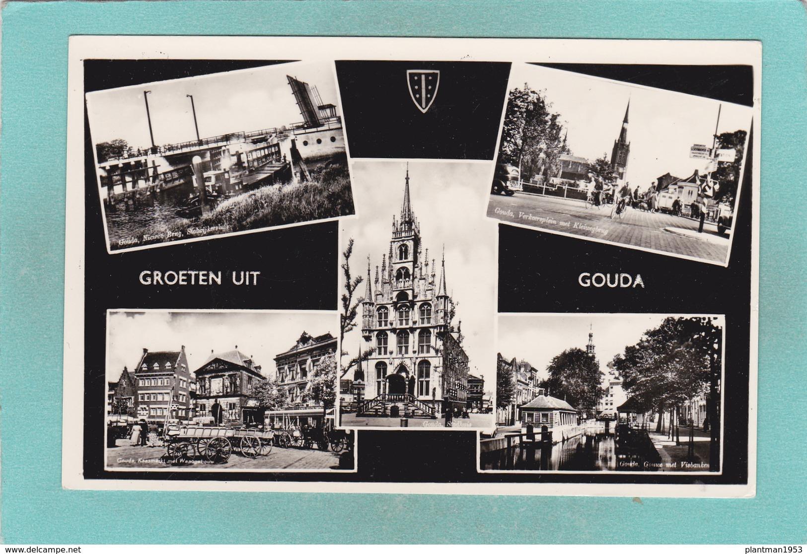 Small Multi View Postcard Of Groeten Uit Gouda Zuid-Holland,Netherlands,K24. - Gouda