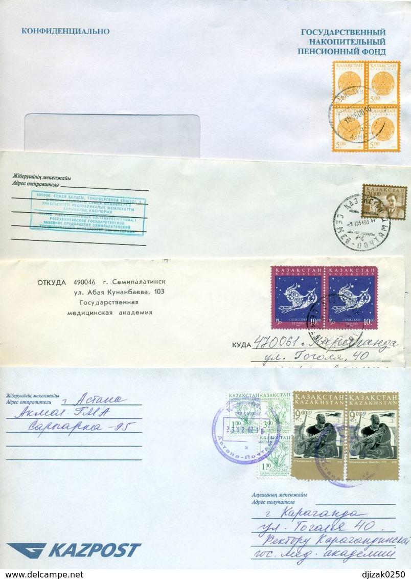 Kazakhstan.Four Nvelope Passed The Mail. - Kazakhstan