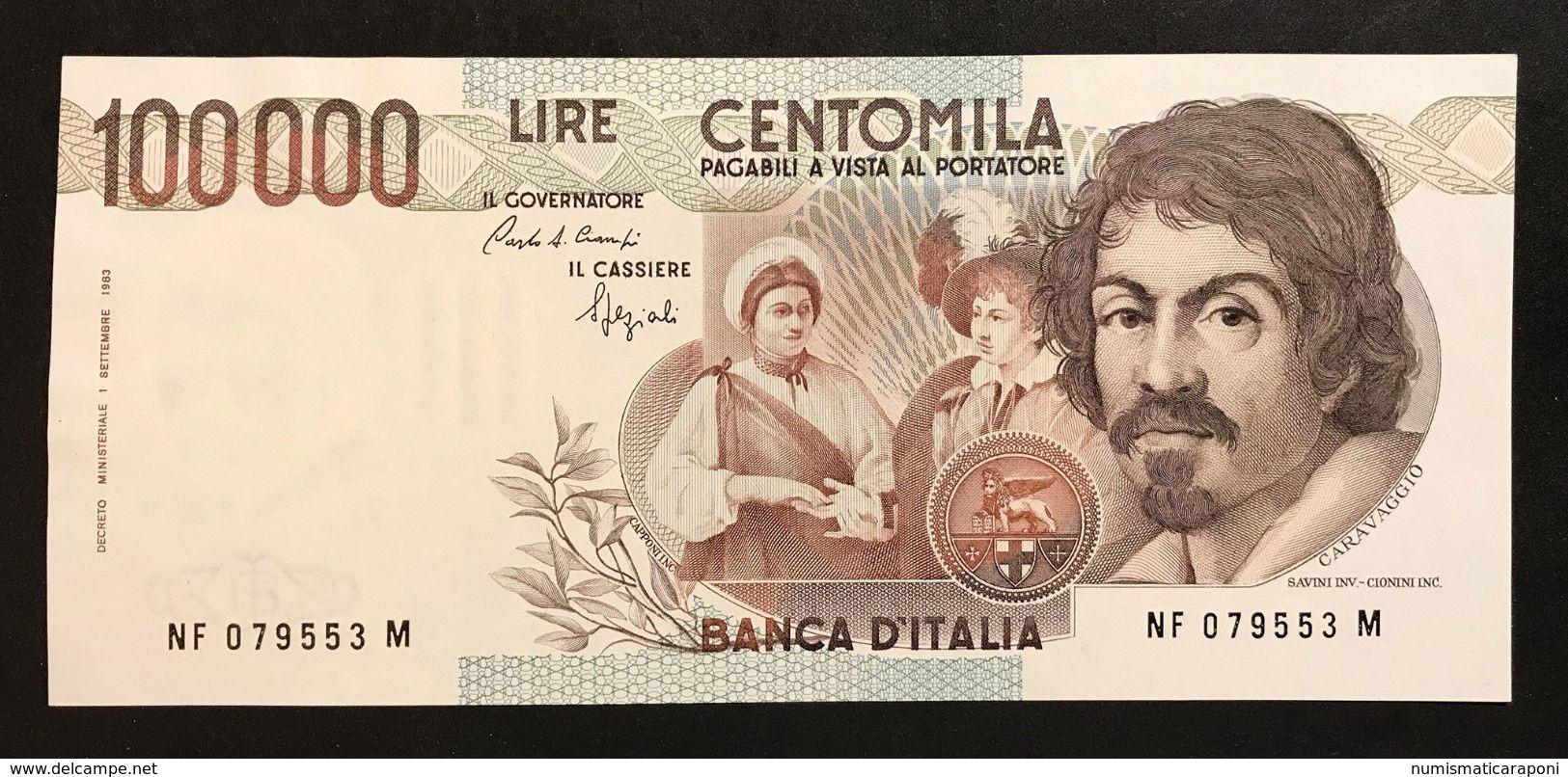 100000 Lire Caravaggio I° Tipo Serie F 1993 Sup/fds  Lotto.542 - [ 2] 1946-… : Républic