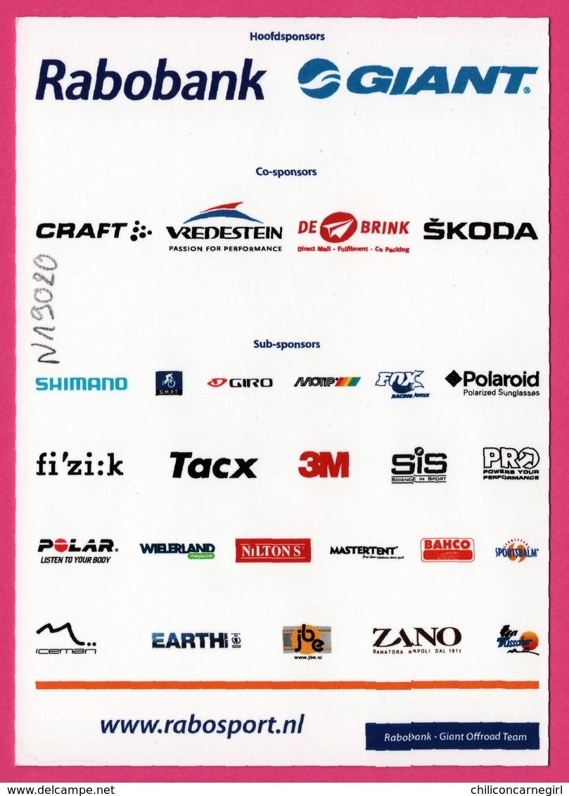 Cycliste - Cyclisme - EMIEL DOLFSMA - Rabobank - Sponsor - Pub - Cycling
