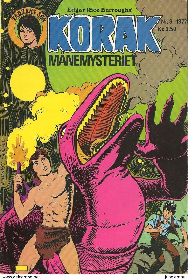 Korak Tarzans Søn N° 8 – Månemysteriet (in Danish) Winthers Forlag ApS - 1977 - Limite Neuf - Livres, BD, Revues