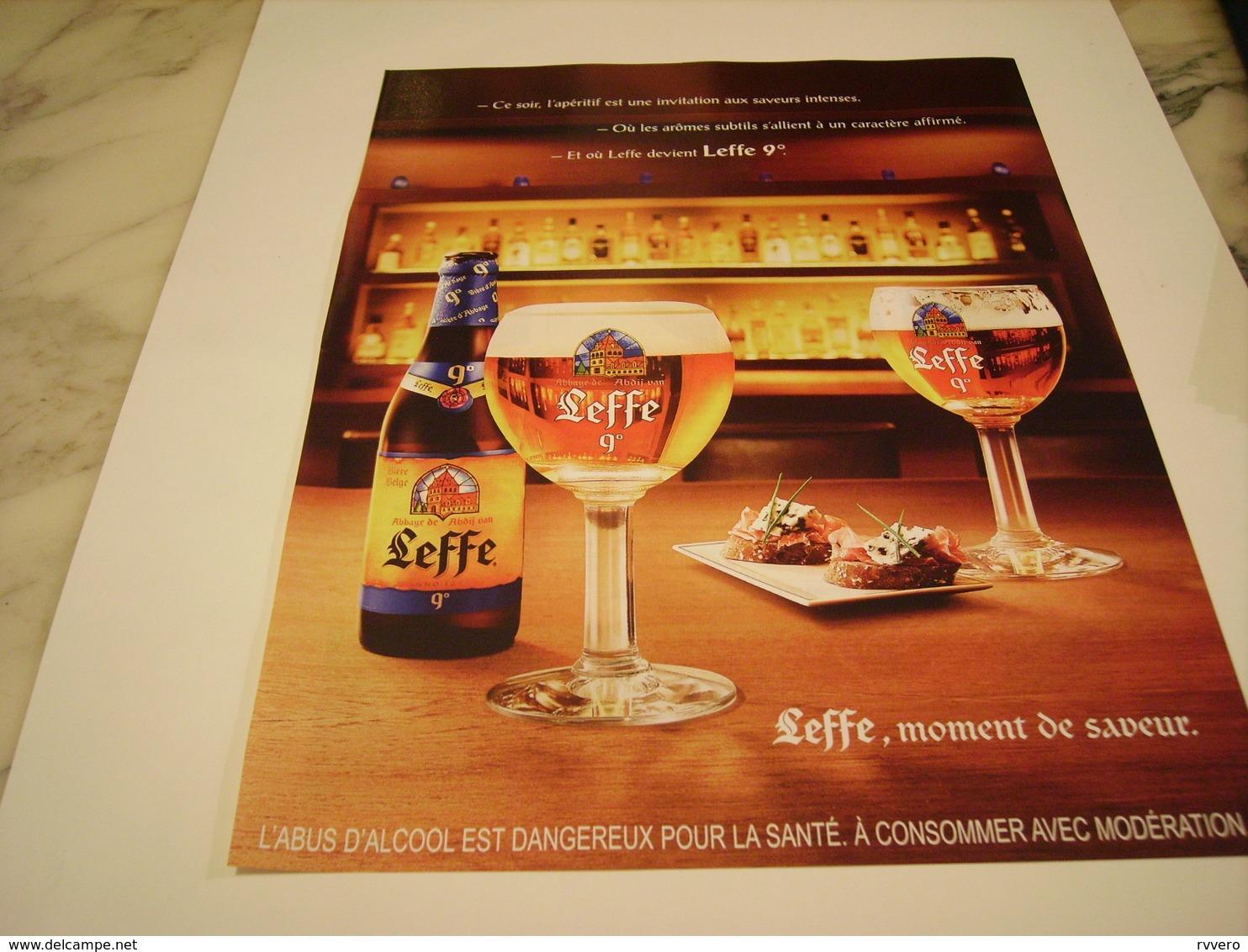 PUBLICITE AFFICHE BIERE LEFFE 2010 - Alcools